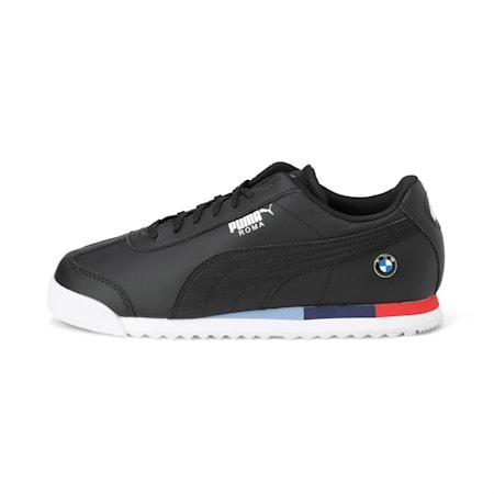 BMW M Motorsport Roma Kid's Shoes, Puma Black-Puma Black, small-IND