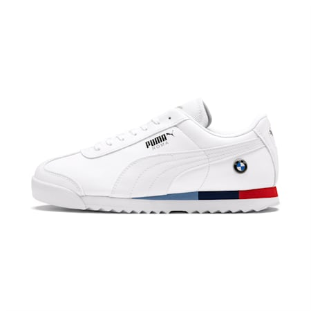 BMW Motorsport Roma Youth Shoes, Puma White-Puma White, small-IND