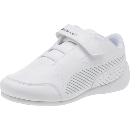 BMW MMS Drift Cat 7S Ultra Little Kids' Shoes, Puma White-Puma White, small