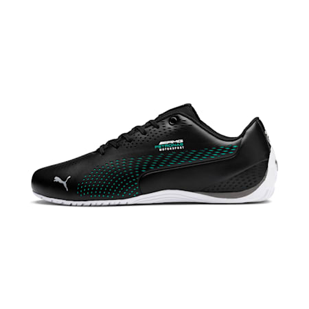 Mercedes AMG Petronas Drift Cat 5 Ultra II Shoes, Puma Black-Spectra Green, small-IND