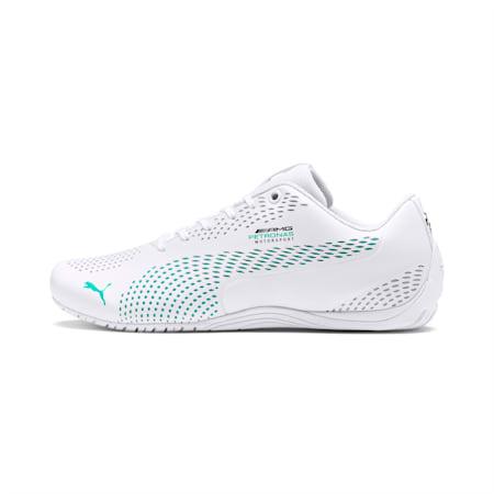 Zapatos Mercedes AMG Petronas Drift Cat 5 Ultra II para hombre, Puma White-Spectra Green, pequeño