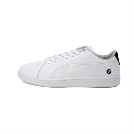 BMW M Motorsport Smash V2 Shoes, Puma White-Puma White, small-IND