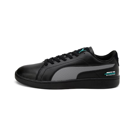 Mercedes AMG Petronas Smash V2 Shoes, Black-Smkd Pearl-Spectra Grn, small-IND