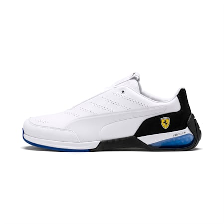 Ferrari Kart Cat X Shoes, Puma White-Puma Black, small-IND