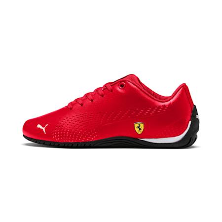 Ferrari Drift Cat 5 Ultra II Youth Shoes, Rosso Corsa-Puma White, small-IND