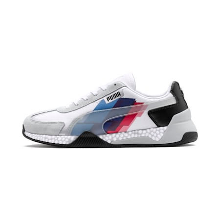 BMW M Motorsport Speed HYBRID Shoes, White-Glacier Gray-Black, small-IND