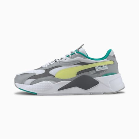 Mercedes-AMG Petronas RS-X³ Sneakers, Mrcds Tm Slvr-Sunny Lime-Wht, small