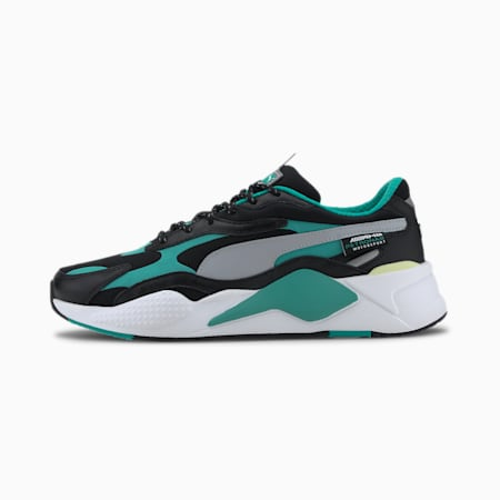 Mercedes RS-Cube Trainers, Black-Spectra Green-White, small