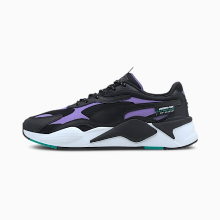 Mercedes RS-Cube Trainers, Puma Black-Luminous Purple, small