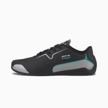 Mercedes Drift Cat 8 Trainers, Puma Black-Puma Silver, small
