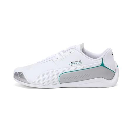 Mercedes Drift Cat 8 Unisex Shoes, Puma White-Puma Silver, small-IND