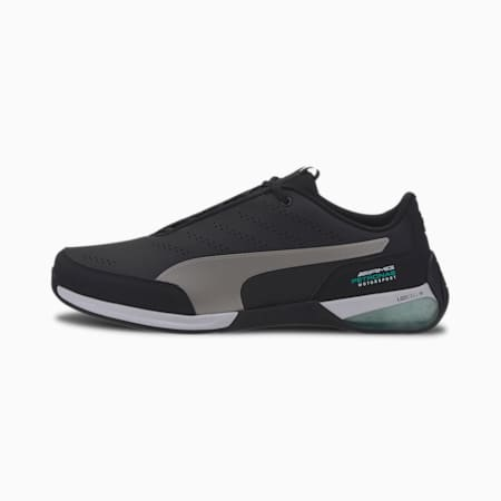 Zapatos de automovilismo Mercedes AMG Petronas Kart Cat X para hombre, Puma Black-Puma Silver, pequeño