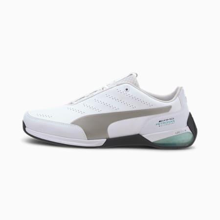 Mercedes AMG Petronas Kart Cat X Men's Motorsport Shoes, Puma White-Puma Silver, small