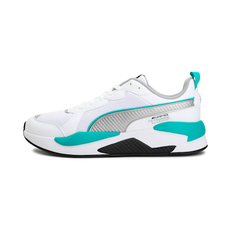 Mercedes X-Ray Unisex Shoes, Puma White-Puma Silver-Puma Black, small-IND