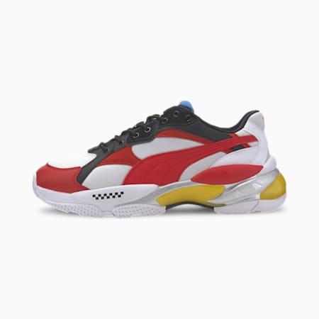 Scuderia Ferrari LQDCELL Epsilon Men's Sneakers, P Wht-Ros Corsa-Vibrant Ylw, small