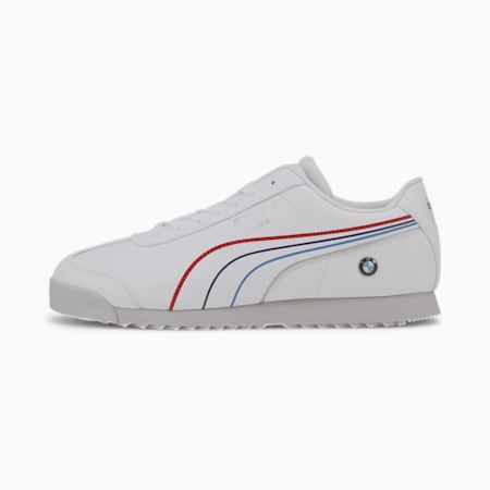 BMW M Motorsport Roma Men's Sneakers, Puma White-Puma White, small