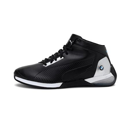 BMW M Motorsport Kart Cat-X Mid Tech Shoes, P Black-P Silver-P Black, small-IND