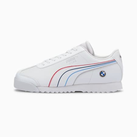 BMW M Motorsport Roma Boys' Sneakers JR, Puma White-Puma White, small