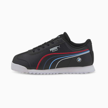 BMW M Motorsport Roma Little Kids' Shoes, Puma Black-Puma White, small