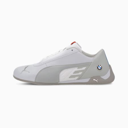 BMW M Motorsport R-Cat Youth Shoes, Puma White-Puma White, small