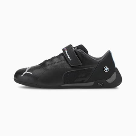 BMW M Motorsport R-Cat Little Kids' Motorsport Shoes, Puma Black-Puma Black, small