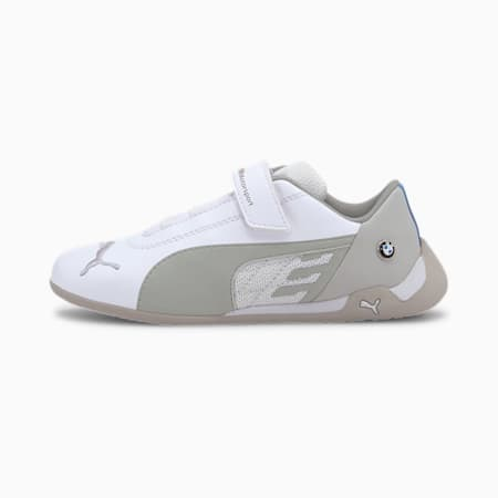 BMW M Motorsport R-Cat Little Kids' Motorsport Shoes, Puma White-Puma White, small