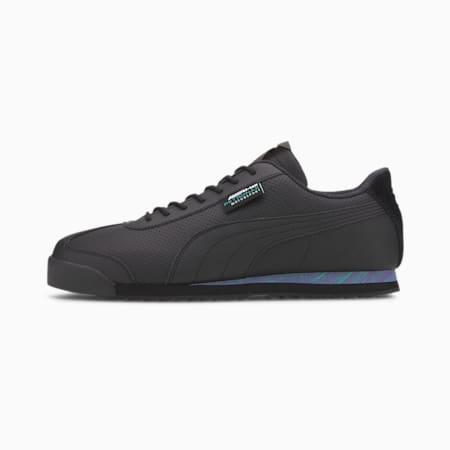 Mercedes Roma Trainers, P Blk-Spectra Grn-Lumin Pur, small