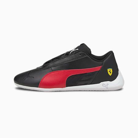 Scuderia Ferrari Race R-Cat Youth Motorsport Shoes, Black-Rosso Corsa-White, small-SEA