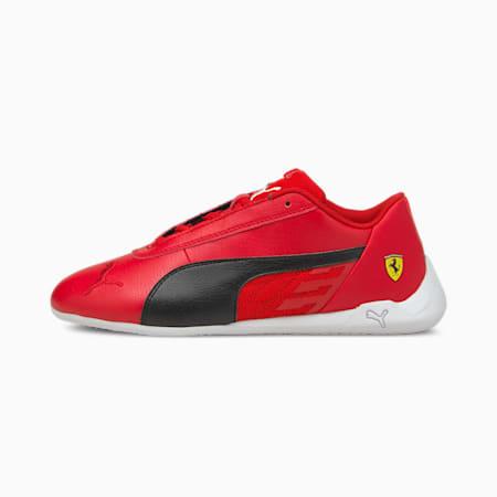 Scuderia Ferrari Race R-Cat Youth Motorsport Shoes, Rosso Corsa-Black-White, small-SEA