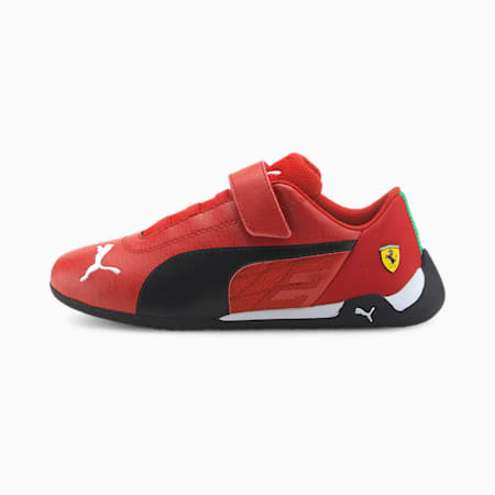 Scuderia Ferrari Race R-Cat Kids' Motorsport Shoes, Rosso Corsa-Puma Black, small