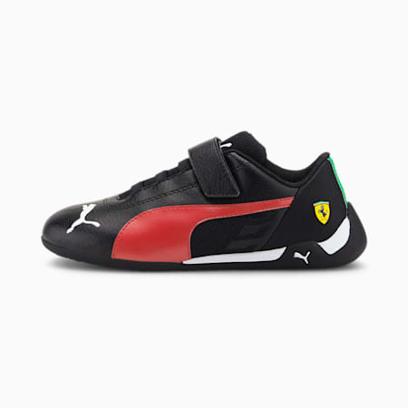 Scuderia Ferrari Race R-Cat Kids' Motorsport Shoes, Puma Black-Rosso Corsa, small-GBR