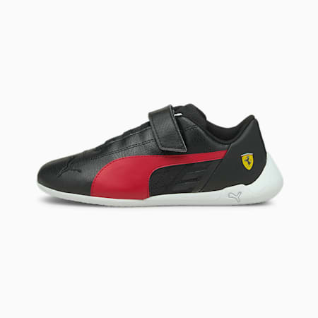 Scuderia Ferrari Race R-Cat Kids' Motorsport Shoes, Black-Rosso Corsa-White, small-SEA