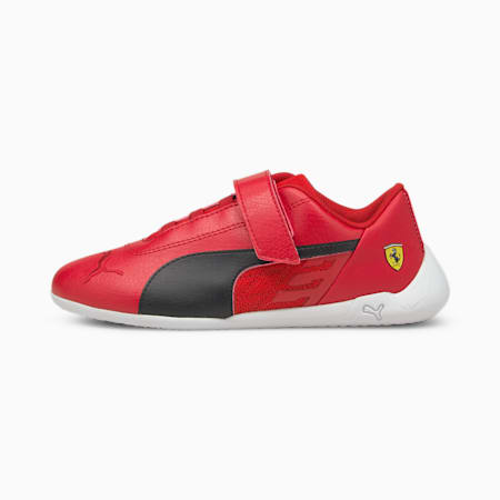 Scuderia Ferrari Race R-Cat Kids' Motorsport Shoes, Rosso Corsa-Black-White, small
