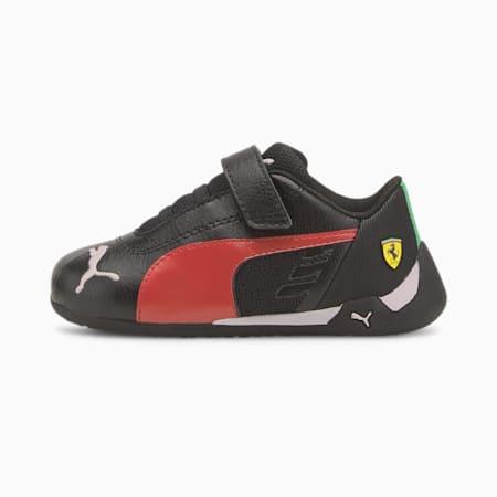 Scuderia Ferrari-Rennen R-Cat V Baby Sneaker, Puma Black-Rosso Corsa, small
