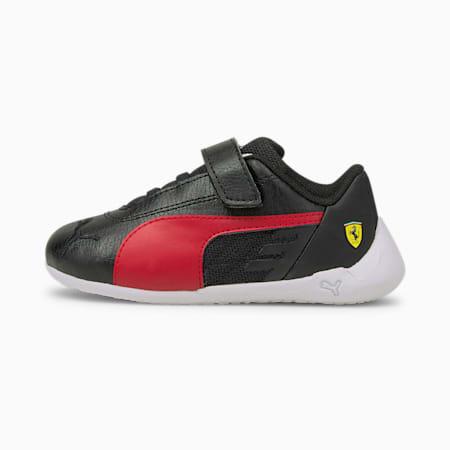 Scuderia Ferrari Race R-Cat V Babies' Trainers, Black-Rosso Corsa-White, small