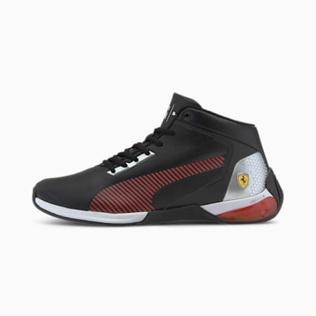 Scuderia Ferrari Race Kart Cat-X Mid Motorsport Shoes, P Blk-Rosso Corsa-P Blk, small-IND