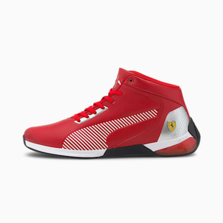 Scuderia Ferrari Race Kart Cat-X Mid Motorsport Shoes, Rosso Corsa-R Corsa-P Blk, small-IND