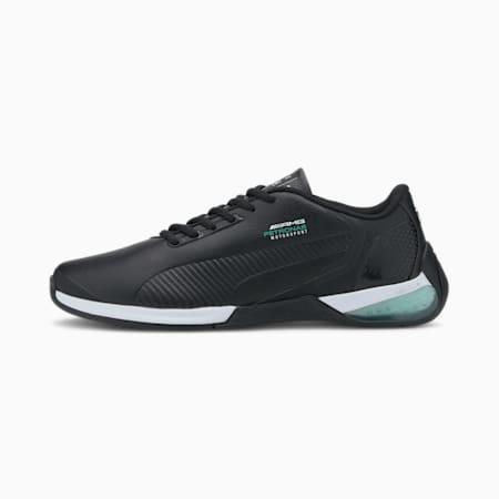 Mercedes Kart Cat-X Tech Unisex Shoes, Puma Black-Spectra Green-Puma Black, small-IND