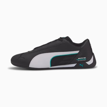 Mercedes R-Cat Trainers, Puma Black-Puma White, small