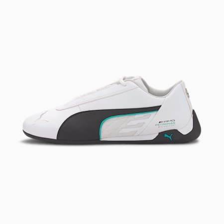 Mercedes-AMG Petronas R-Cat Men's Motorsport Shoes, Puma White-Puma Black, small
