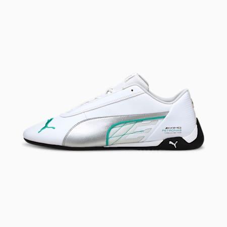 Mercedes R-Cat Unisex Shoes, Puma White-Puma Silver, small-IND