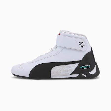 Mercedes R-Cat Mid Men's Sneakers, Puma White-Puma Black, small-IND