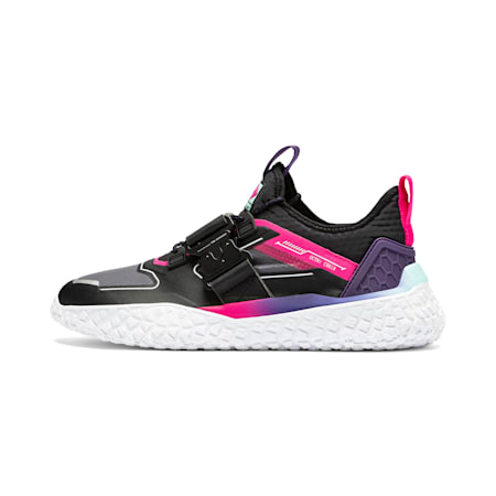 Hi Octn x Need for Speed Heat Men's Motorsport Shoes, Black-White-Pink Glo, small