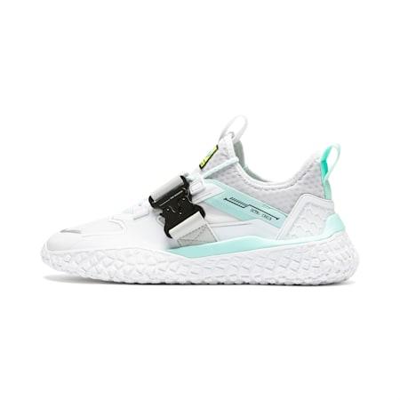 Zapatos de automovilismo Hi Octn x Need for Speed Heatpara hombre, Wht-ARUBA BLUE-Glacier Gray, pequeño