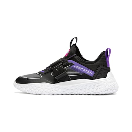 Hi OCTN x NFS Trainers, Black-White-ELECTRIC PURPLE, small