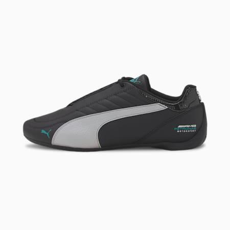 Zapatos de automovilismo Mercedes-AMG Petronas Future Kart Cat, Puma Black-Puma Silver, pequeño