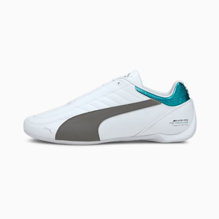 Mercedes Future Kart Cat Unisex Shoes, Puma White-Smoked Pearl, small-IND