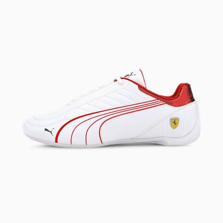 Scuderia Ferrari Race Future Kart Cat Unisex Shoes, Puma White-Rosso Corsa, small-IND