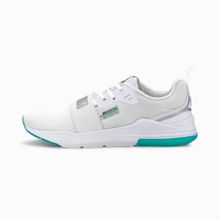 Mercedes Wired Run Unisex Shoes, P Wht-Mer T Slr-Spectra Grn, small-IND