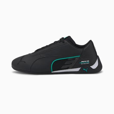 Mercedes R-Cat Youth Sneaker, Puma Black-Puma White, small